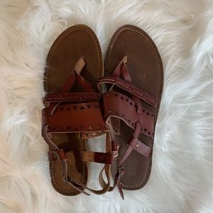Mossimo Supply Co. leather strappy sandal
